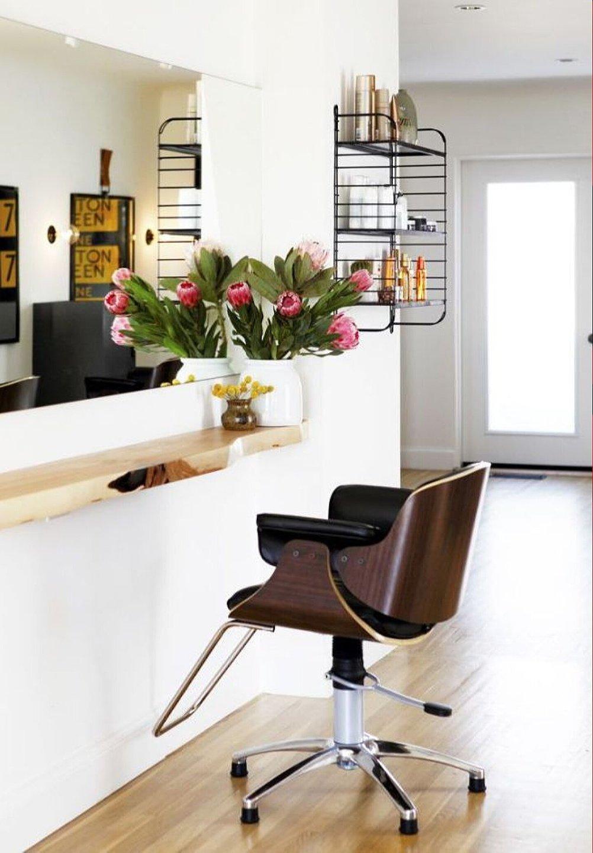 Интерьер парихмахерской. 70 фото дизайнов 99