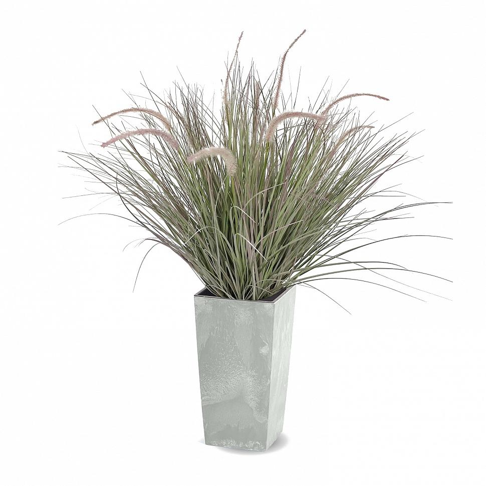 Трава искусственная для декора Пеннисетум в кашпо