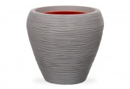 Кашпо CAPI Nature Vase Tapered Round Rib 32Dx38H Серый