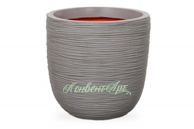 Кашпо CAPI Nature Egg Planter Rib 37Dx40H Серый