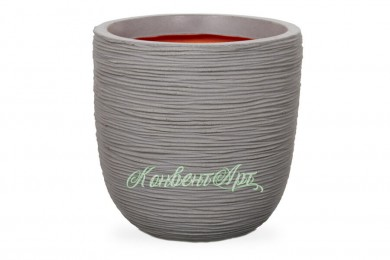 Кашпо CAPI Nature Egg Planter Rib 48Dx52H Серый