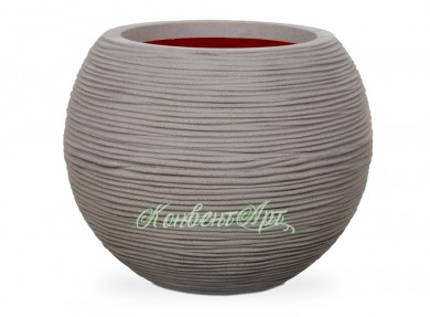 Кашпо CAPI Nature Vase Ball Rib 42Dx48H Серый