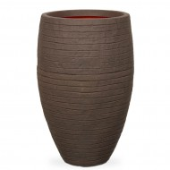 Кашпо CAPI Nature Vase Elegant Deluxe Low Row 29Dx60H Коричневый