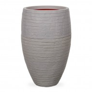 Кашпо CAPI Nature Vase Elegant Deluxe Low Row 29Dx60H Серый