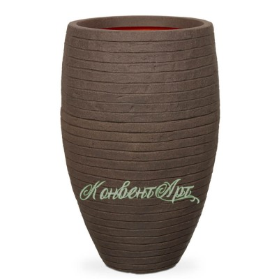 Кашпо CAPI Nature Vase Elegant Deluxe Low Row 40Dx86H Коричневый