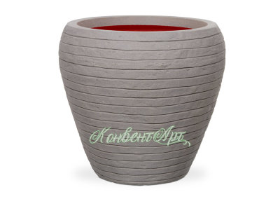 Кашпо CAPI Nature Vase Tapered Round Row 32Dx38H Серый