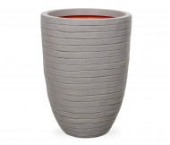 Кашпо CAPI Nature Vase Elegant Low Row 40Dx56H Серый