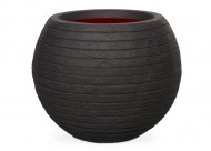 Кашпо CAPI Nature Vase Ball Row 25Dx33H Черный