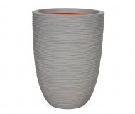 Кашпо CAPI Nature Vase Elegant Low Rib 28Dx47H Серый