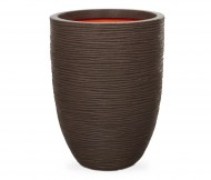 Кашпо CAPI Nature Vase Elegant Low Rib 28Dx47H Коричневый