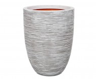 Кашпо CAPI Nature Vase Elegant Low Rib 40Dx56H Ивори